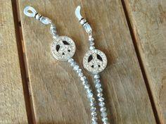 cadena para gafas con símbolos de la pazcordón para por LUNAdeCOCO