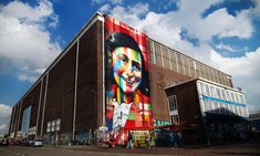 Eduardo Kobra mural on the exterior of Amsterdam's future street art museum (photo by Marco Buddingh) Street Art Amsterdam, Amsterdam City, Amsterdam Netherlands, Street Installation, Painted Stairs, New Museum, Going On Holiday, Video Games For Kids, Museum Exhibition