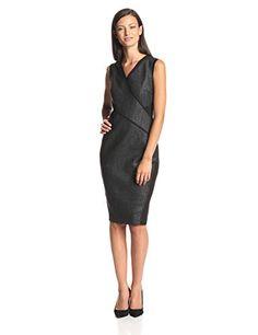 Elie Tahari Women's Maisy Coated Stretch Cotton Sheath Dress, Black, 8 ELIE TAHARI http://www.amazon.com/dp/B00LX18CW8/ref=cm_sw_r_pi_dp_U694ub1NN55XV