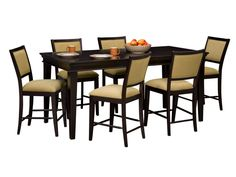 Morristown Lotus 7-PC Counter Height Dinette - Value City Furniture
