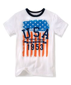 Look at this #zulilyfind! White 'USA' Tee - Toddler & Boys #zulilyfinds