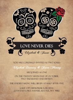 On the Creative Market Blog - 12 Spooky Wedding Invites