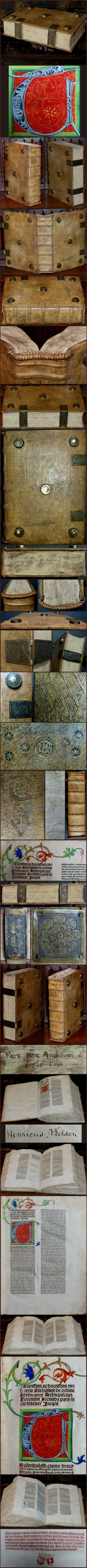 From ebay, one of Guttenberg's first bibles, illumination very similar to the instructions found in the Goettingen Model Book.  15th century