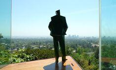 'Lautner', by Xavier Veilhan, 2013, is installed in architect John Lautner's Sheats-Goldstein House in LA