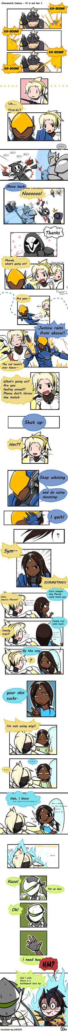 Overwatch Comics - It is not her 1 #comics #mercy #overwatch #pharah #symmetra #pharmercy #fanartwatch