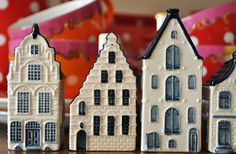 Dutch ceramic houses. This is a gift from KLM( Royal Dutch Airline) to all Business Class travelers.