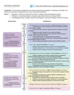 Resume (Infographics) by Tatiana Avdjiev, via Behance