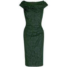 Foxy-Lady-50s-Wiggle-Dress---vintage-green. http://www ...