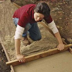 Step by step pictures of how to lay a brick/stone path
