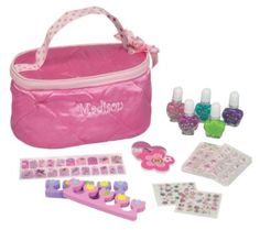 One Step Ahead Exclusive! Our dream-come-true girls' manicure set includes five peel-off, non-toxic nail polishes, two sheets of decorative nail stickers, 12 press-on nails, and 20 trendy nail strips. Kids Manicure, Nails For Kids, Manicure Set, Kids Nail Polish Set, Trendy Nails, Cute Nails, Baby Gates, Nail Stickers, Press On Nails