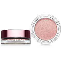 Clarins Ombre Iridescent Cream-to-Powder Eye Shadow (£21) ❤ liked on Polyvore featuring beauty products, makeup, eye makeup, eyeshadow, silver rose, clarins eye shadow, clarins eyeshadow and clarins