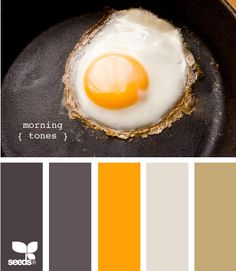 like the addition of brown here.  And love that its the colors from an egg in cast iron.