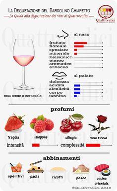 Impariamo a degustare il Bardolino Chiaretto su Quattrocalici. Wine And Cheese Party, Wine Tasting Party, Wine Drinks, Alcoholic Drinks, Cocktails, Wine Party Appetizers, Wine Cellar Racks, Sweet White Wine, Italian Wine