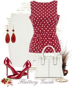 Love polka dots work fashion or Sunday brunch fashion attire