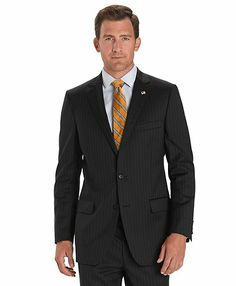 Fitzgerald Fit Two-Button 1818 Suit.  I upgraded mine to Made to Measure with purple paisley lining and functional buttonholes (aka surgeon sleeves).