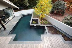 glashelder water in een prachtige zwemvijver
