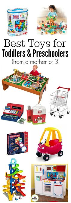 Best toys for toddlers and preschoolers from a mother of These toys are durable, long lasting, promote imaginative and creative play, and are well loved. Toddler Christmas Gifts, Christmas Gifts For Boys, Preschool Christmas, Christmas Fun, Gifts For Kids, Christmas Toys For Toddlers, Boy Gifts, Christmas Activities, Best Toddler Toys