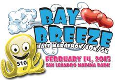 Bay Breeze Half Marathon/10K/5K (Remote Option), San Leandro, CA: February 14, 2015 ($70/$54/$49/$45)
