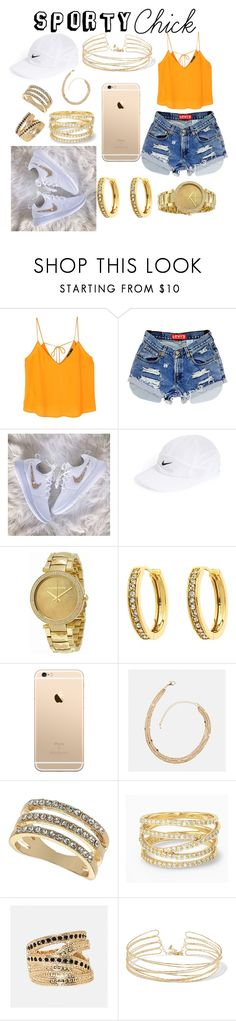"""Sporty Chick : Sunny Days"" by thaliacuevas ❤ liked on Polyvore featuring MANGO, NIKE, Michael Kors, Monet, Avenue, Miss Selfridge, Stella & Dot and Kenneth Jay Lane"