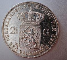Netherlands 2 1/2 Gulden 1870