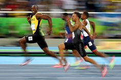 Usain Bolt of Jamaica competes in the men's 100-meter semifinal at the 2016 Olympic Games in Rio de Janeiro on Aug. 14. Cameron Spencer / Getty Images