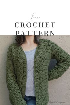 Sera Cardigan a Free Crochet Cardigan Pattern - ChristaCoDesign - - The Sera Cardigan is a lightweight and easy to layer sweater. Featuring a classic fit this crochet cardigan is comfortable for around the house or a walk. Crochet Cardigan Pattern Free Women, Crochet Dog Sweater, Crochet Jacket, Knit Or Crochet, Easy Crochet, Free Crochet, Crochet Patterns, Sweater Patterns, Beginner Crochet