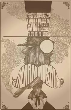 Band poster (5 Alarm Mustache) that I made with pen. color and text in adobe illustrator. - Imgur