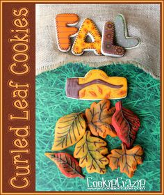 Curled Autumn Leaf Cookies (Tutorial)
