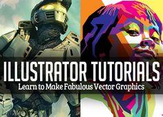 20 Illustrator Tutorials – Learn to Make Fabulous Vector Graphics #illustraotrtutorials #vectortutorials #vectorgraphics