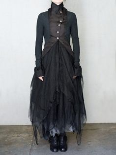 haute couture fashion Archives - Best Fashion Tips Mori Fashion, Fashion Dresses, Womens Fashion, Witch Fashion, Gothic Fashion, Sarouel Pants, Mode Steampunk, Kleidung Design, Costume