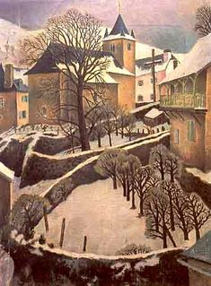 Contemporary with Soutine DORA CARRINGTON  Larrau Snowscape (1922)