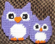 Owl Plastic Canvas Pattern Santa By StitchingUpCreations