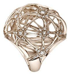 Anel Galilei grande de Ouro Nobre e diamantes