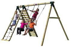 Plum Products Uakari Wooden Swing Set http://www.activitytoysdirect.com/plum-products/uakari-wooden-swing-set/p991