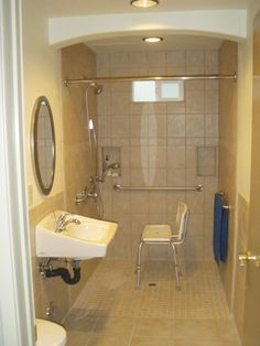 wheelchair accessible small bathroom - Google Search