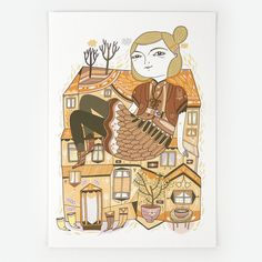 On The Roof - Giclee Print
