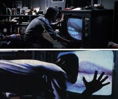 """mfjr: """" """" The television screen is the retina of the mind's eye """" Videodrome The Mind's Eye, The Retina, Classic Horror Movies, Upcoming Films, Screenwriting, Great Movies, Storyboard, Cinematography, Cyberpunk"""