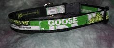 Adjustable Dog Collar from recycled Goose Island IPA Beer Labels by squigglechick on Etsy