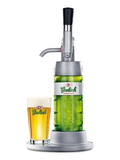Grolsh rebottles their beer with a family of standard 33cl bottles, new swing-top bottles and a home draft system (Home draft system above).