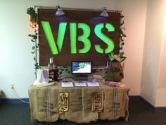 Leader Registration Table for VBS 2015 Journey off the Map