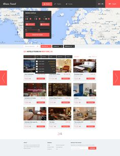 Alava Travel Search Result Page and Filter