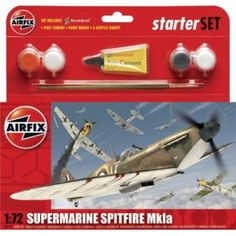 Supermarine Spitfire 1:72 - Airfix Airfix Models, Supermarine Spitfire, Royal Air Force, Model Airplanes, Things To Buy, Military, War, Awesome Stuff, Miniature