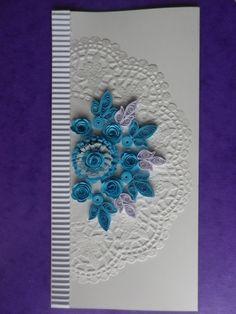 carte de voeux  Noël ou anniversaire art du papier roulé quilling