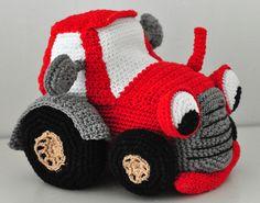 Häkelanleitung für einen Traktor / diy crochet instruction: tractor by Stofflaus-und-Haekelgetier via DaWanda.com