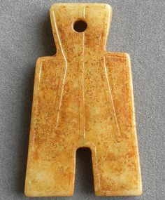 Superb CHINESE Old Jade Two Side Carved Shovel Jade Currency Coin Amulet QZ150