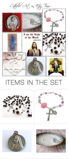 """""""Catholic gifts on Etsy - Volume 1"""" by terrytiles2014 ❤ liked on Polyvore featuring art, etsy, gifts, catholic and religious"""