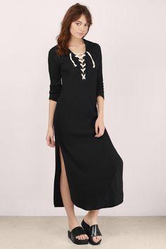 Aziela Hooded Maxi Dress. Lace Up ... b3e27d0ce
