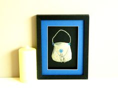 Metal Art Sculpture Framed Pewter bag  Royal Blue by Loutul, £17.00