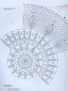 "Photo from album ""ааа Рукоделие"" on Yandex. Crochet Doily Rug, Crochet Doily Diagram, Crochet Dollies, Crochet Borders, Crochet Tablecloth, Crochet Stitches Patterns, Doily Patterns, Crochet Chart, Thread Crochet"