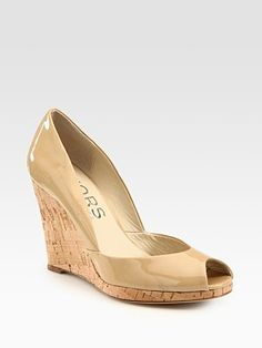 Michael Kors Vail - Nude Patent with Cork Wedge